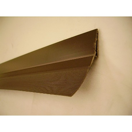 Joint vertical et superieur plat pvc marron (vendu au mètre)