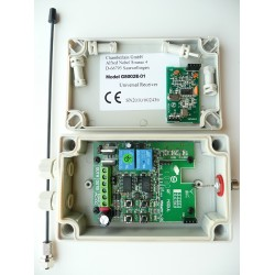 Récepteur Universel 2 canaux IP45 Push and Pull avecmodule radio embrochable 433 MHZ