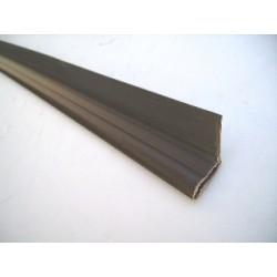 Joint de corniere verticale superieur pvc marron (vendu au mètre)