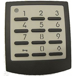 Clavier à Code Sans Fil 433 Mhz pour Moteur Pushpull 600 / 600-1 / 600-2 / Wayne Master / Expert (10 canaux)