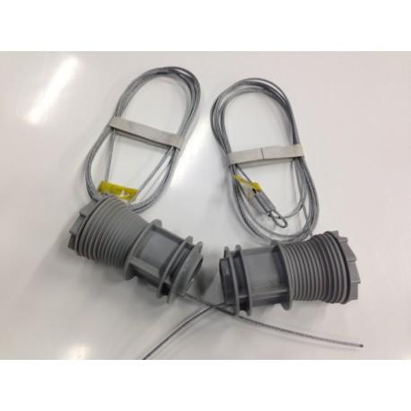 Paire de Tambour Avant Droit et Gauche avec câbles TM3 2P