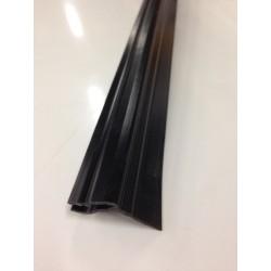 Joint de Cornière Verticale et Supérieur PVC Noir 2510mm